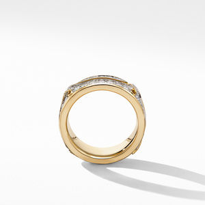 Armory Band Ring in 18K Yellow Gold with Diamonds alternative image