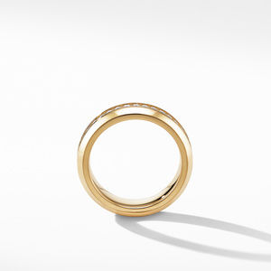Streamline Band Ring in 18K Yellow Gold with Diamonds alternative image