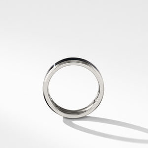 Beveled Band Ring in Grey Titanium with Black Titanium alternative image