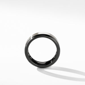 Beveled Band Ring in Black Titanium with Grey Titanium alternative image