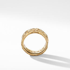 Waves Band Ring in 18K Yellow Gold alternative image