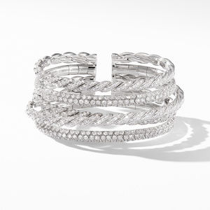 Pavflex Five Row Bracelet with Diamonds in 18K White Gold alternative image