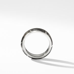 Forged Carbon Band Ring in 18K White Gold alternative image