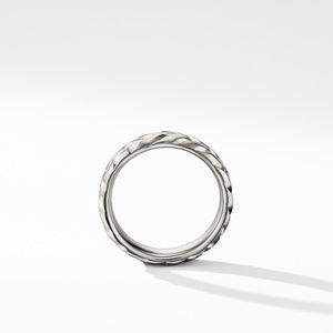 Chevron Band Ring in 18K White Gold alternative image