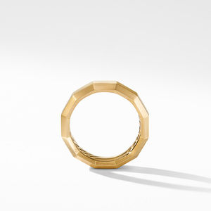 Faceted Band Ring in 18K Yellow Gold alternative image