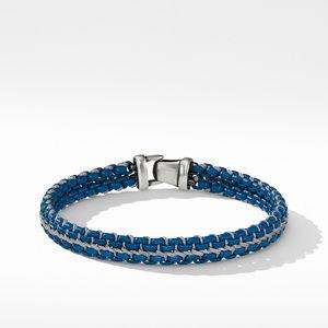 Woven Box Chain Bracelet in Navy