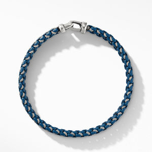 Woven Box Chain Bracelet in Navy alternative image