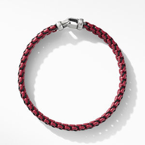 Woven Box Chain Bracelet in Burgundy alternative image