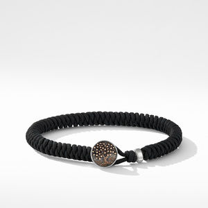 Woven Tree of Life Bracelet with Black Nylon