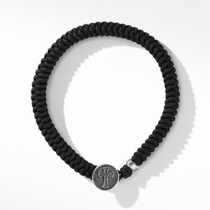 Woven Cross Bracelet with Black Nylon alternative image