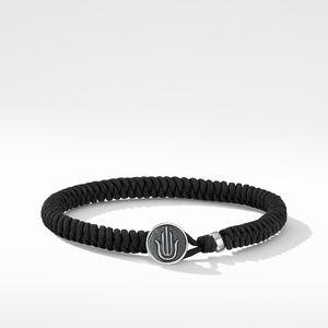 Woven Hamsa Bracelet with Black Nylon