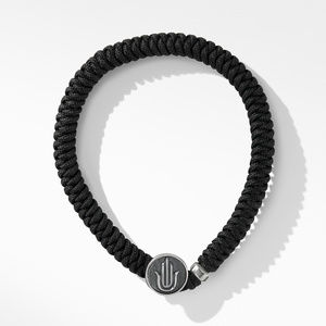 Woven Hamsa Bracelet with Black Nylon alternative image