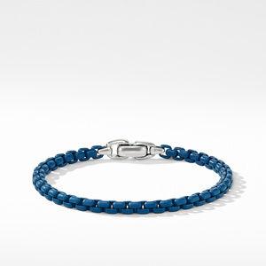 Box Chain Bracelet in Blue