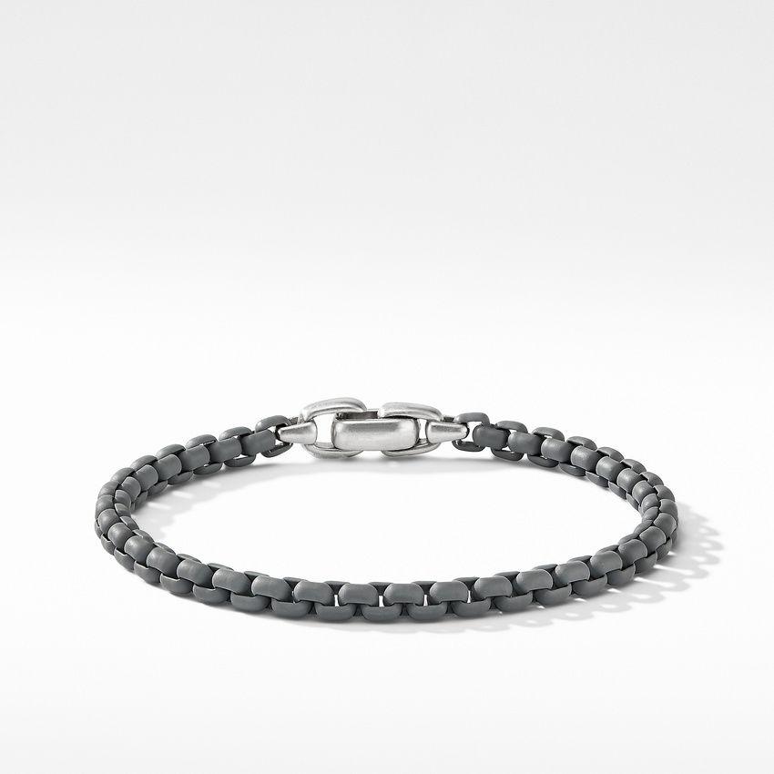 Box Chain Bracelet in Grey