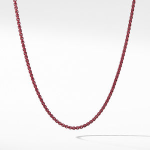 Box Chain Necklace in Burgundy