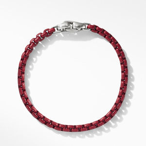 Box Chain Bracelet in Burgundy alternative image
