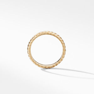 Cable Band Ring in 18K Yellow Gold alternative image
