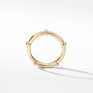 DY Classic Astor Two Row Band Ring in 18K Yelow Gold alternative image