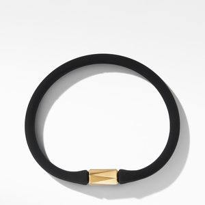 DY Fortune Barrel Rubber Bracelet with 18K Yellow Gold alternative image