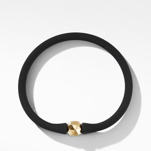 DY Fortune Round Faceted Rubber Bracelet with 18K Yellow Gold alternative image