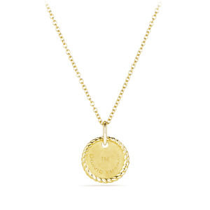"""A"" Pendant with Diamonds in Gold on Chain alternative image"