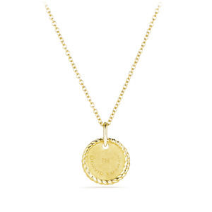 """T"" Pendant with Diamonds in Gold on Chain alternative image"