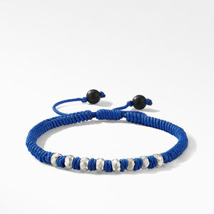 DY Fortune Woven Bracelet in Navy with Black Onyx