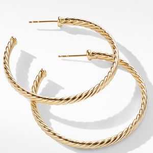 Medium Cablespira Hoop Earrings in 18K Yellow Gold alternative image
