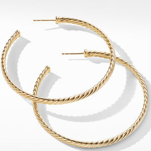 Large Cablespira Hoop Earrings in 18K Yellow Gold alternative image
