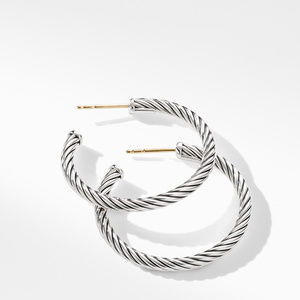 Cable Hoop Earrings alternative image