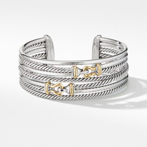 Buckle Crossover Cuff Bracelet with 18K Yellow Gold alternative image
