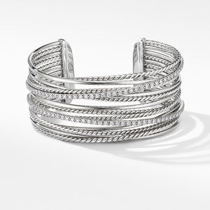 The Crossover Collection® Cuff Bracelet with Diamonds alternative image