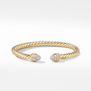 Cable Bracelet in 18K Yellow with Diamonds alternative image