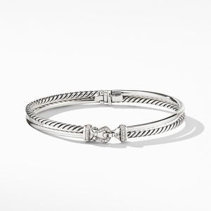 Two-Row Buckle Bracelet with Diamonds alternative image