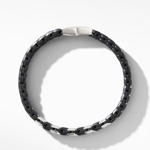 Chevron Narrow Woven Bracelet in Black Titanium with Black Diamonds alternative image