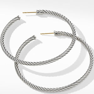 Large Cable Hoop Earrings alternative image