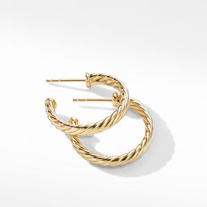 Small Cablespira Hoop Earrings in 18K Yellow Gold alternative image