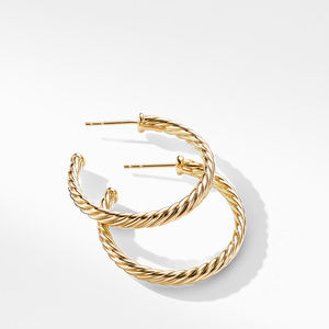 Cablespira Hoop Earrings in 18K Yellow Gold alternative image