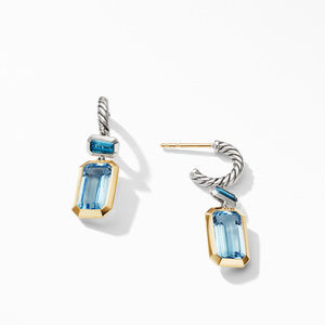 Novella Drop Earrings with Blue Topaz and 18K Yellow Gold alternative image