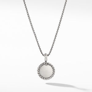 Initial Charm Necklace with Diamonds alternative image