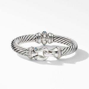 Cable Buckle Bracelet with Hampton Blue Topaz and Diamonds alternative image