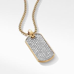 Streamline® Tag in 18K Yellow Gold with Diamonds alternative image