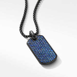 Streamline® Tag in Black Titanium with Blue Saphhires alternative image