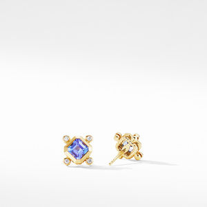 Novella Stud Earrings in 18K Yellow Gold with Tanzanite and Diamonds alternative image