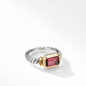 Novella Ring with Rhodalite Garnet and 18K Yellow Gold