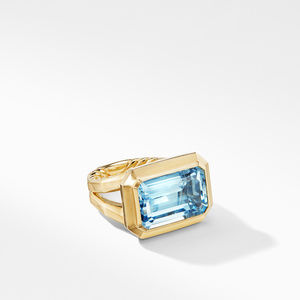 Novella Statement Ring in 18K Yellow Gold with Blue Topaz