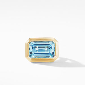 Novella Statement Ring in 18K Yellow Gold with Blue Topaz alternative image