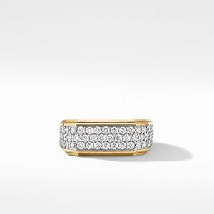 Roman Signet Ring in 18K Yellow Gold with Diamonds alternative image