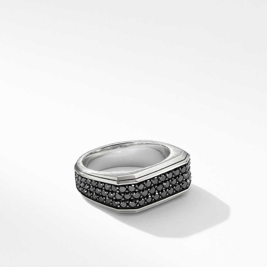 Roman Signet Ring with Black Diamonds