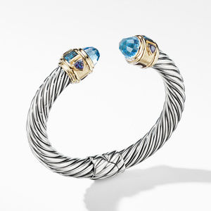Renaissance Bracelet with Blue Topaz and 14K Yellow Gold